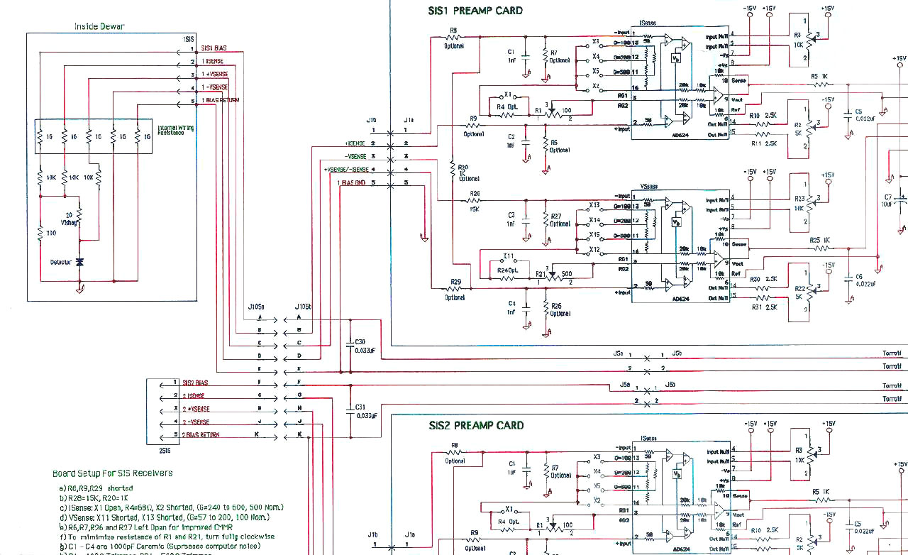 1-2 GHz balanced Low Noise Amplifier Network Schematic on